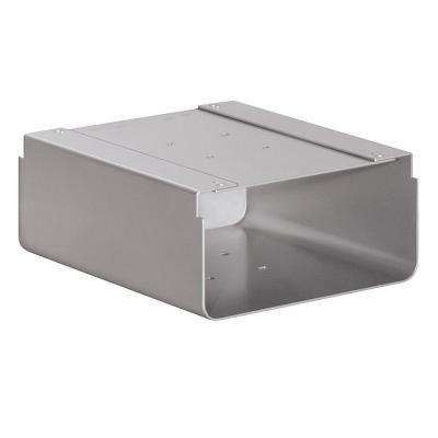 Newspaper Holder for Roadside Mailbox and Mail Chest, Silver