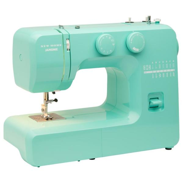 Janome Arctic Teal Crystal Easy-to-Use Sewing Machine 001crystal