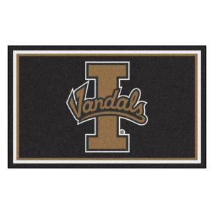 NCAA - University of Idaho Black 4 ft. x 6 ft. Area Rug