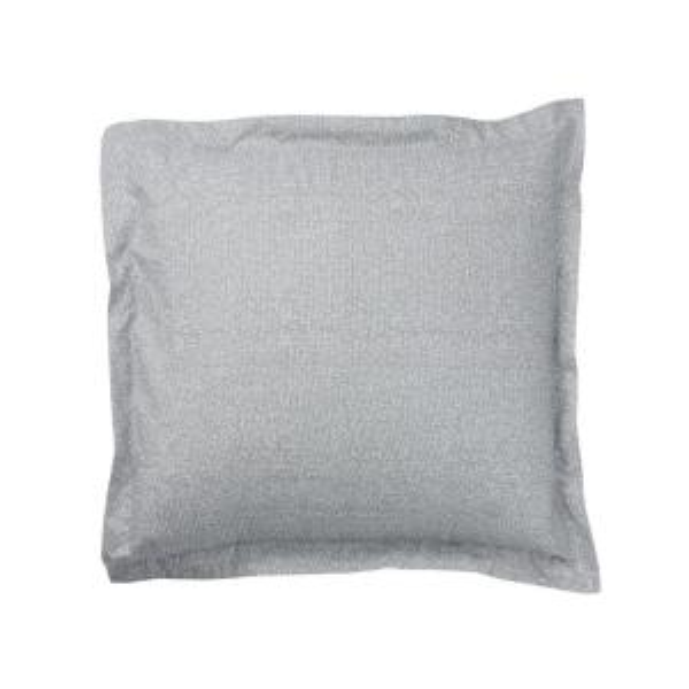 LoftHome Maze Gray Geometric Organic Cotton Percale Euro Sham