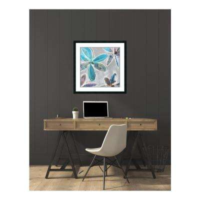 32.25 in. W x 32.25 in. H Denim Songbird III by Edward Selkirk Printed Framed Wall Art