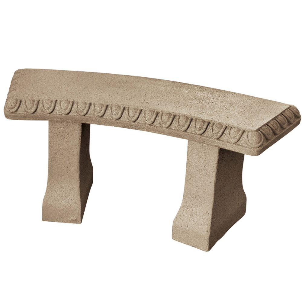 L Sandstone Resin Garden Bench Statue 2306 1   The Home Depot