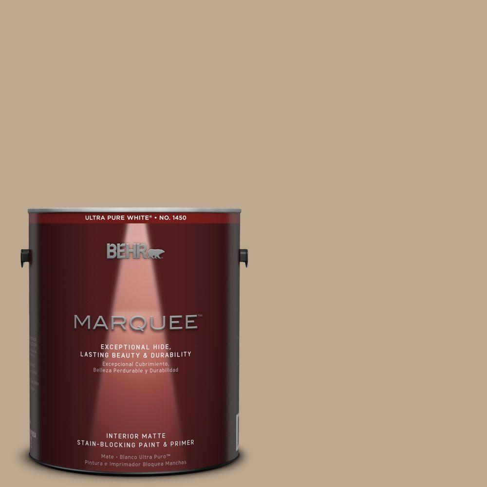 1 gal. #MQ2-25 British Khaki One-Coat Hide Matte Interior Paint