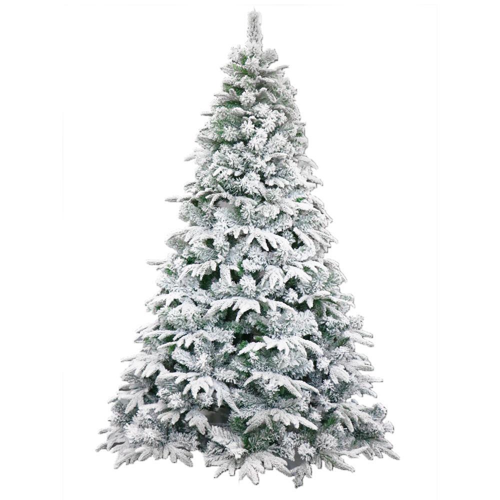 Flocked Christmas Tree: ALEKO 6 Ft. Unlit Flocked Artificial Christmas Tree