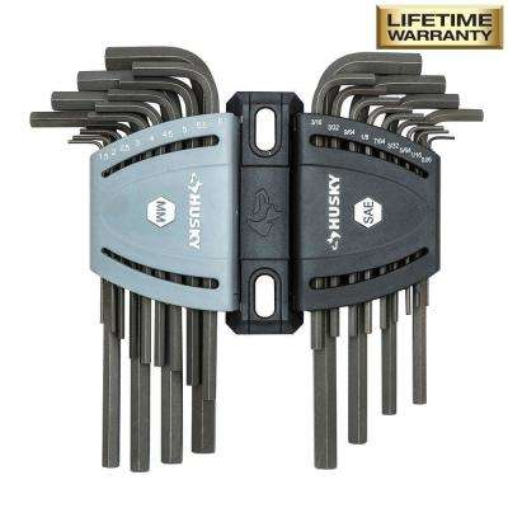 SAE/Metric Long Arm Hex Key Set (26-Piece)