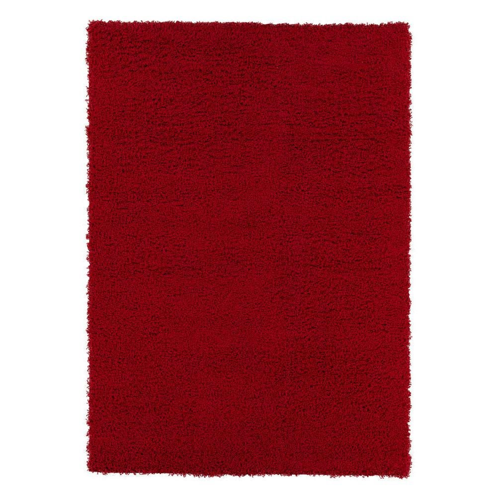 Sweet Home Stores Cozy Shag Collection Red 5 ft. x 7 ft. Indoor Area Rug was $68.48 now $54.78 (20.0% off)