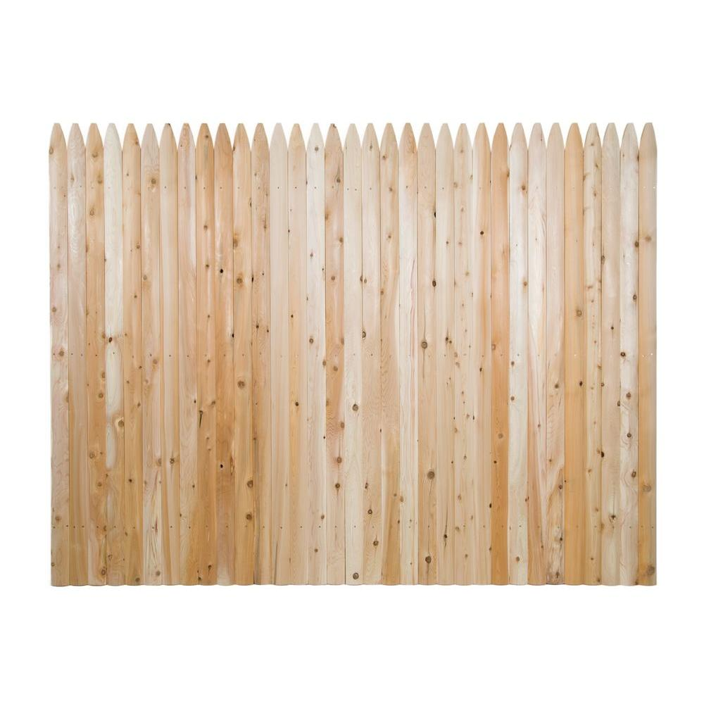6 ft. H x 8 ft. W Privacy Eastern White Cedar Moulded 3 in ...