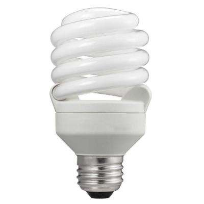 75W Equivalent Soft White T2 Spiral CFL Light Bulb (24-Pack)