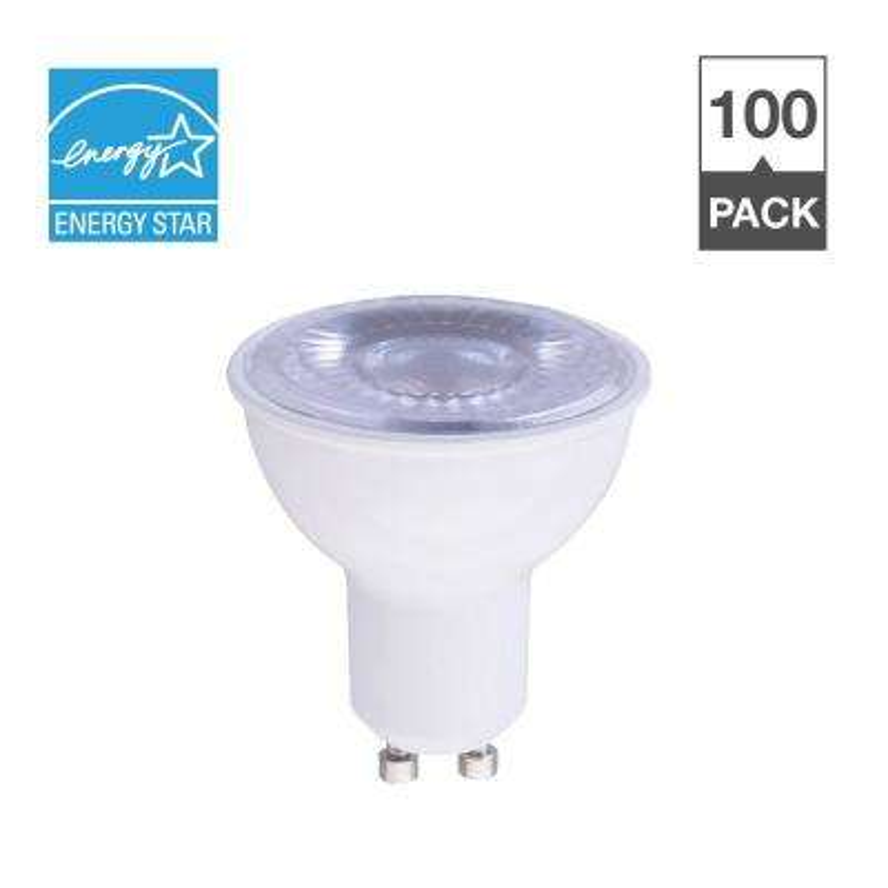 50W Equivalent Soft White 2700K MR16 GU10 Dimmable 15,000-Hour LED Light Bulb (100-Pack)