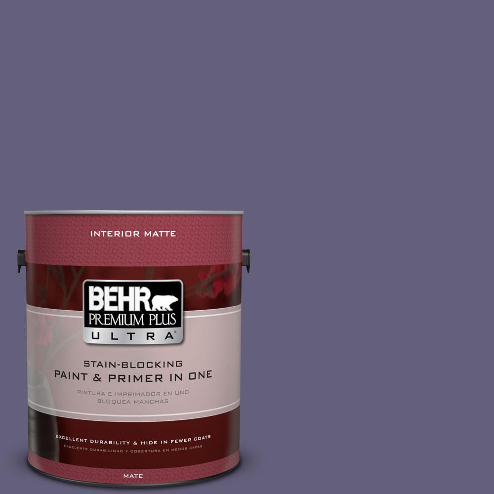 BEHR Premium Plus Ultra 1 gal. #PMD-44 Twilight Dusk Flat/Matte Interior Paint