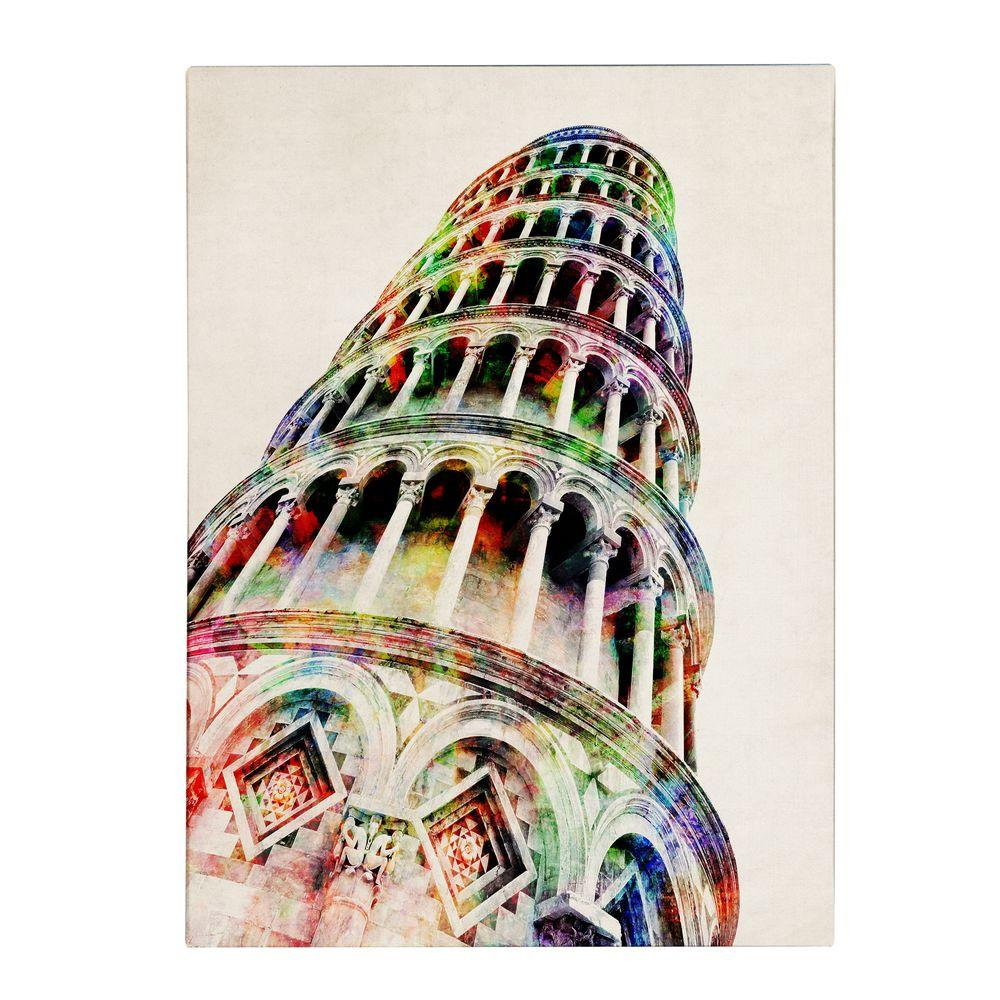 null 19 in. x 14 in. Leaning Tower Pisa Canvas Art