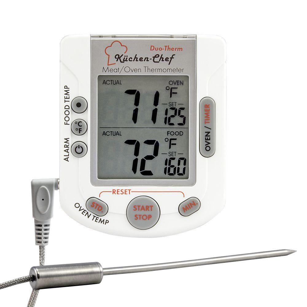 Digital Oven and Meat Thermometer with Timer and Stopwatch