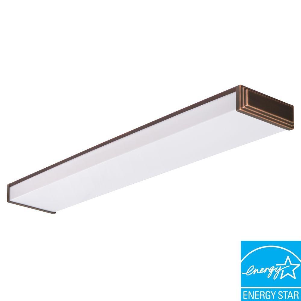 Lithonia Lighting 10648RE BZ Riser 2-Light Black Bronze Fluorescent Ceiling Light