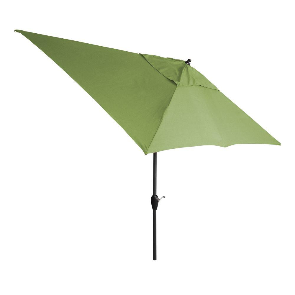 Hampton Bay 10 Ft X 6 Ft Aluminum Patio Umbrella In