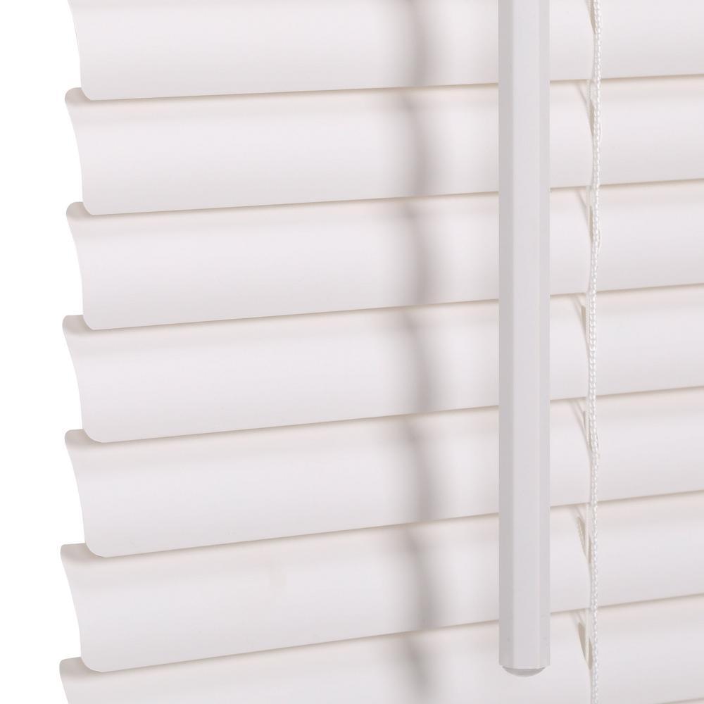 White Cordless 1 In Vinyl Mini Blind