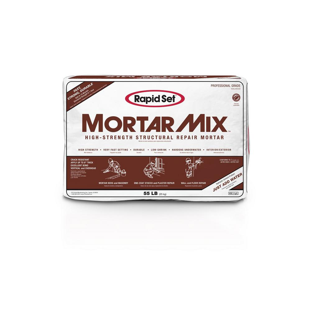 Rapid Set 55 Lb Mortar Mix 04010055 The Home Depot
