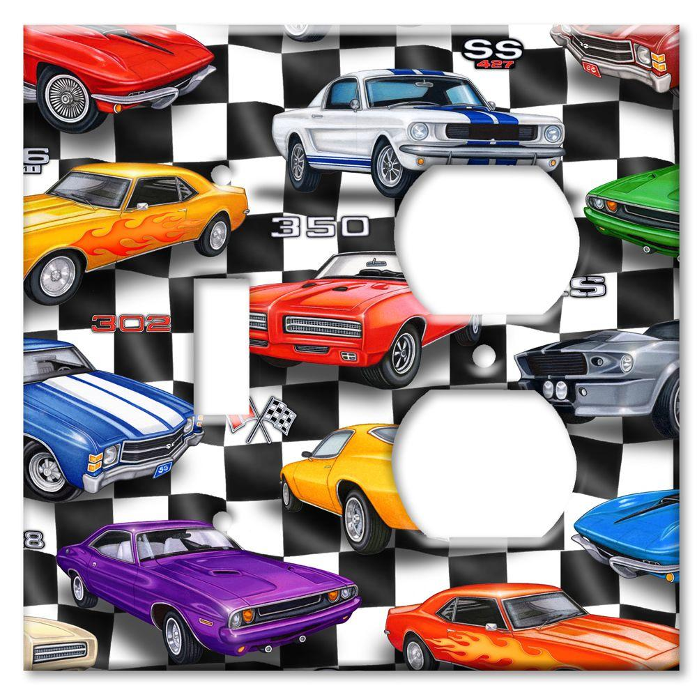 Art Plates Muscle Cars Switch/Outlet Combo Wall Plate