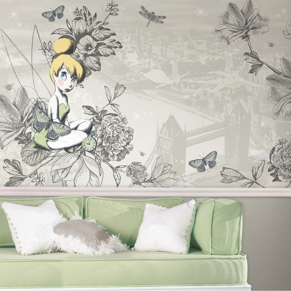 York wallcoverings 105 ft x 6 ft deer chair rail wall mural h vintage tinkbell xl chair amipublicfo Gallery