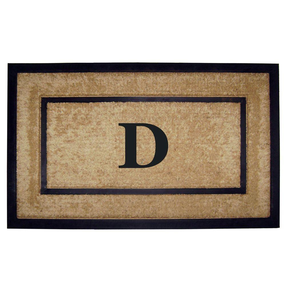 DirtBuster Single Picture Frame Black 22 in. x 36 in. Coir