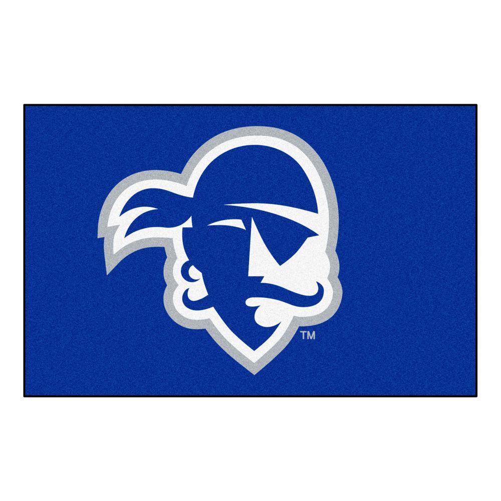 Fanmats Ncaa Seton Hall University Blue 1 Ft 7 In X 2 Ft