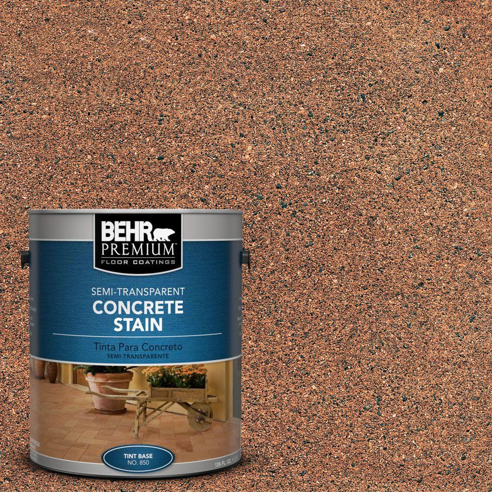 Attrayant BEHR Premium 1 Gal. #STC 31 Natural Henna Semi Transparent  Interior/Exterior Concrete Stain 85001   The Home Depot