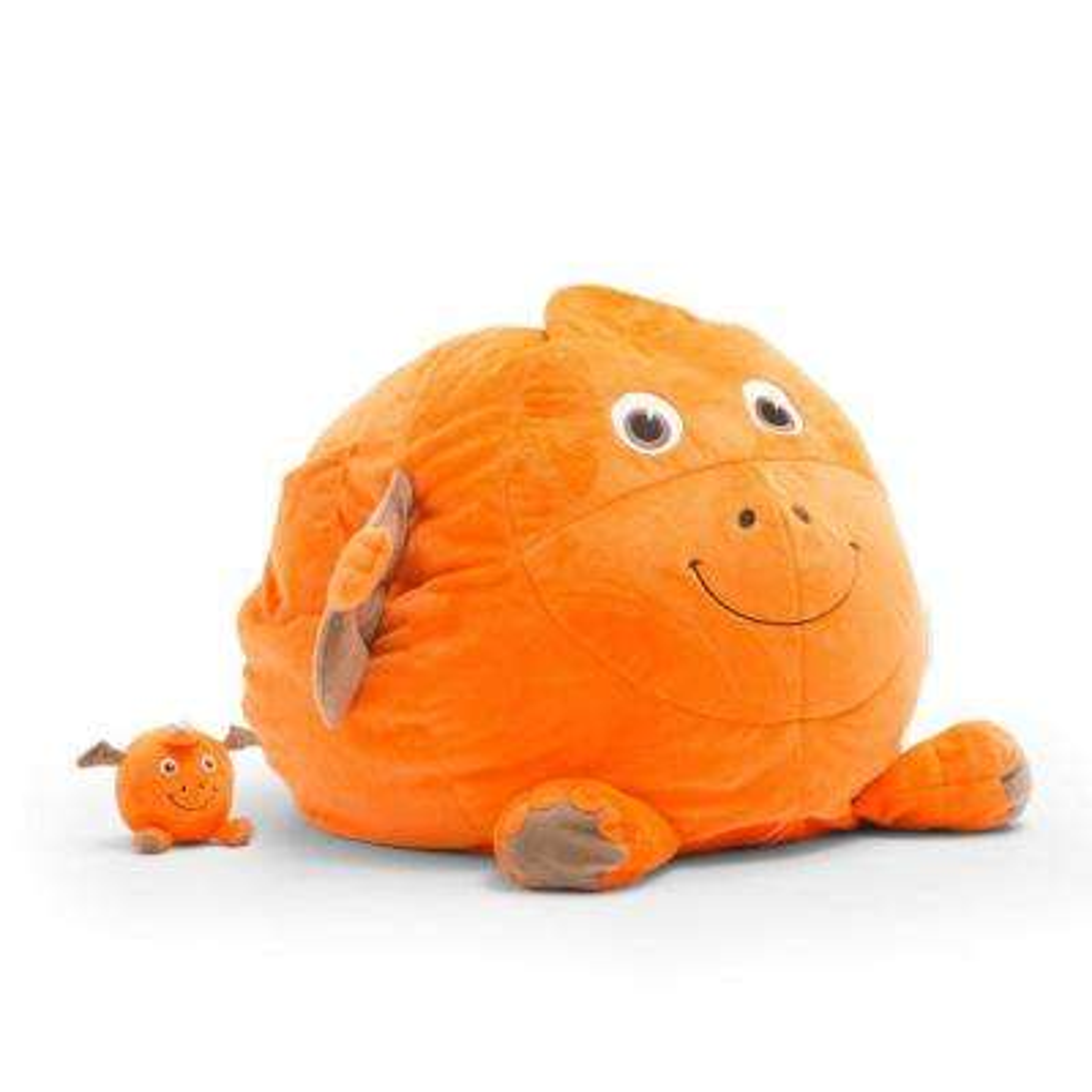 Tommy the Pterodactyl Cozy Orange Plush Bean Bag