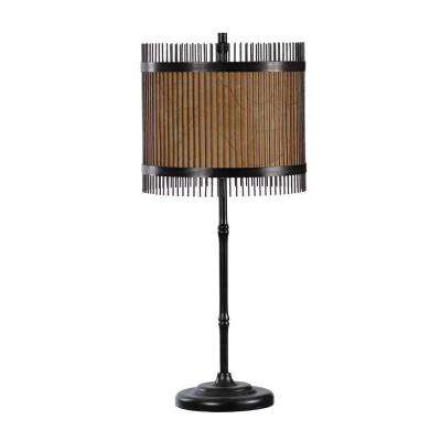28.75 in. Antique Black Metal Table Lamp