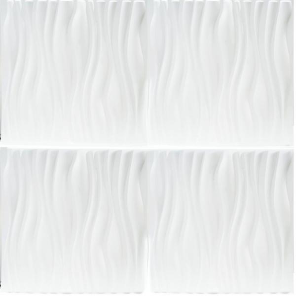 Luxorware 19 7 In X 1 In X 19 7 In White Pvc Fiber 3d Wall Panels 12 Pack Lw3d888 The Home Depot