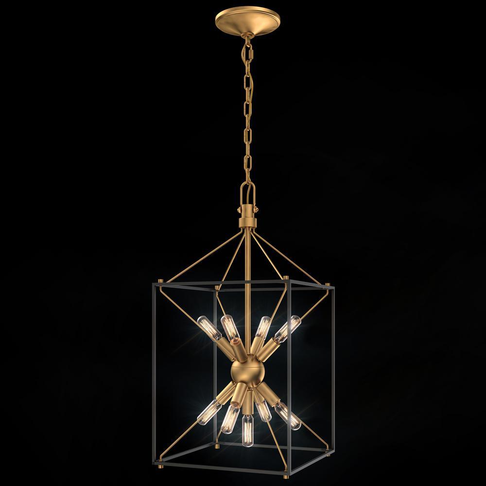 Clyde 9-Light Brass Pendant