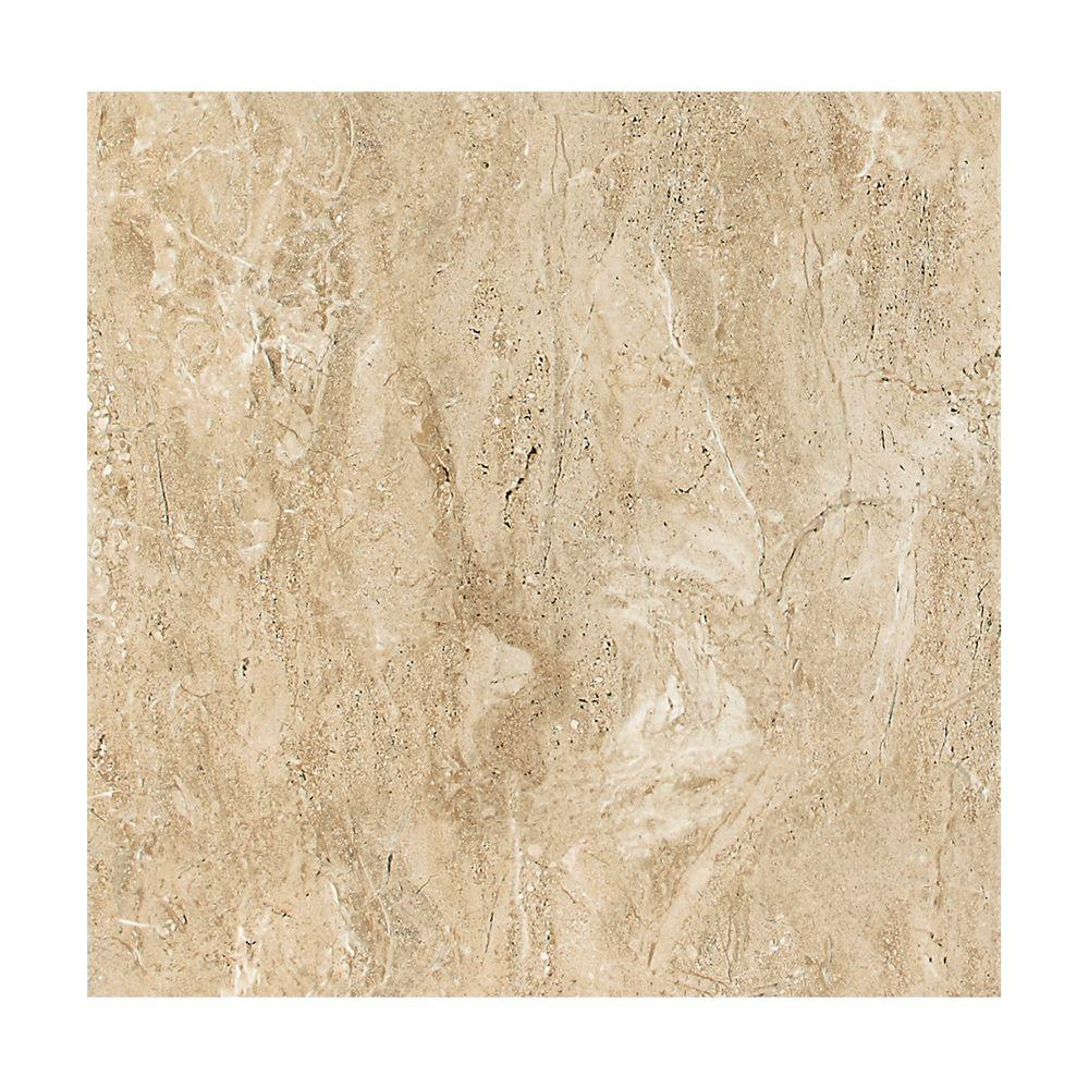 Campisi Linen 12 in. x 12 in. Glazed Porcelain Floor and