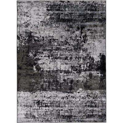 Savage Jace Onyx Black 8 ft. x 10 ft. Indoor Area Rug