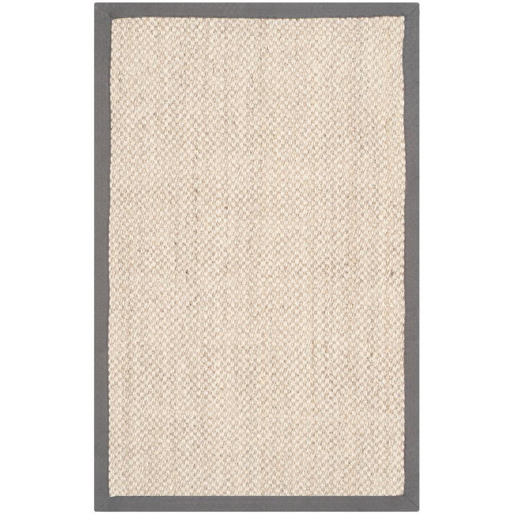 Safavieh Natural Fiber Marble/Grey 2 ft. 6 in. x 4 ft. Area Rug