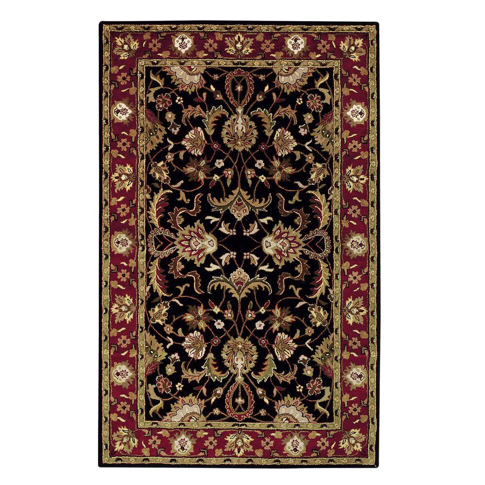 Home Decorators Collection Constantine Black 6 Ft X 9 Ft Area Rug 3151925210 The Home Depot