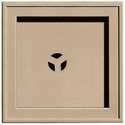 7.75 in. x 7.75 in. #069 Tan Recessed Square Universal Mounting Block