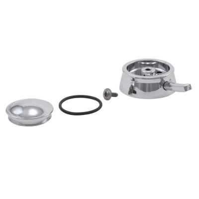 Dryden Tub and Shower Single Metal Lever Handle Temperature Knob and Cover in Chrome