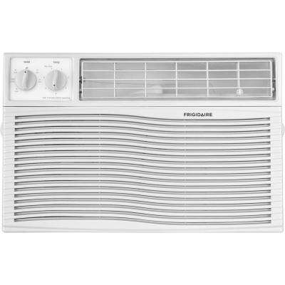 8,000 BTU 115-Volt Window-Mounted Mini-Compact Air Conditioner with Mechanical Controls in White