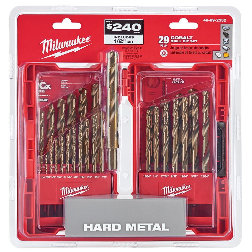 Cobalt Red Helix Drill Bit Kit (29-Piece)