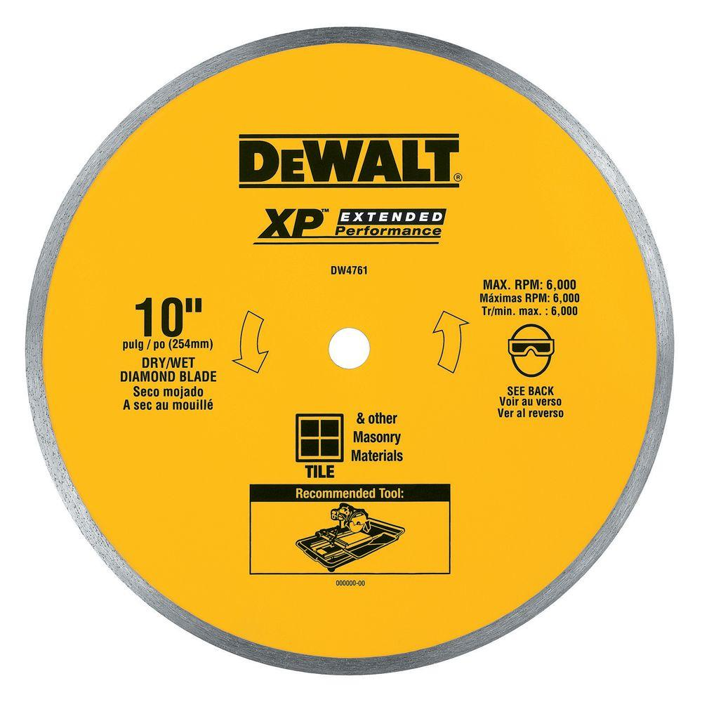 DEWALT 10 in. x 0.060 in. Wet Ceramic Tile Blade