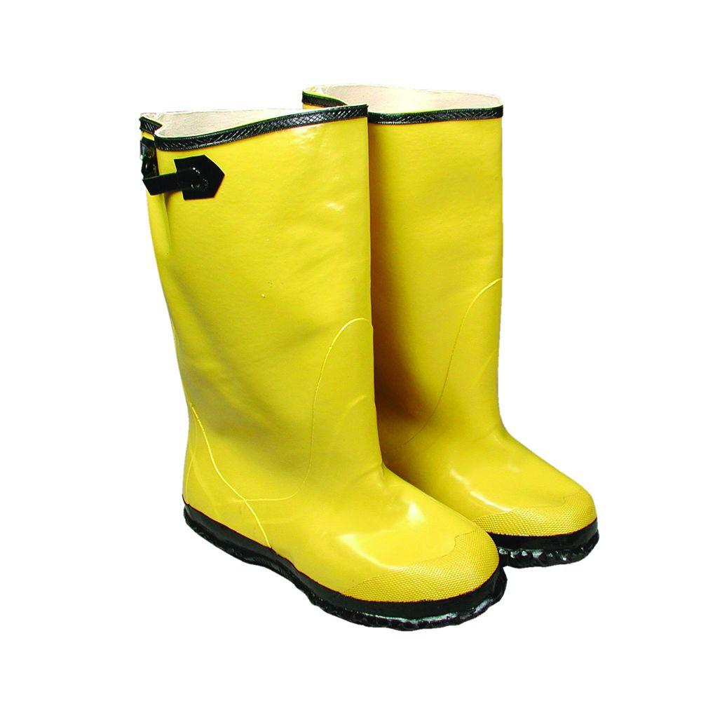 Size 13 Yellow Slush Boot Black Buckle and Sole