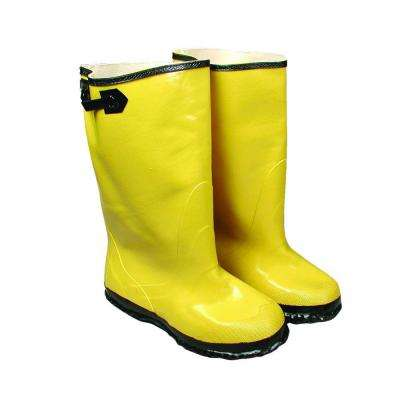 Size 9 Yellow Slush Boot Black Buckle and Sole