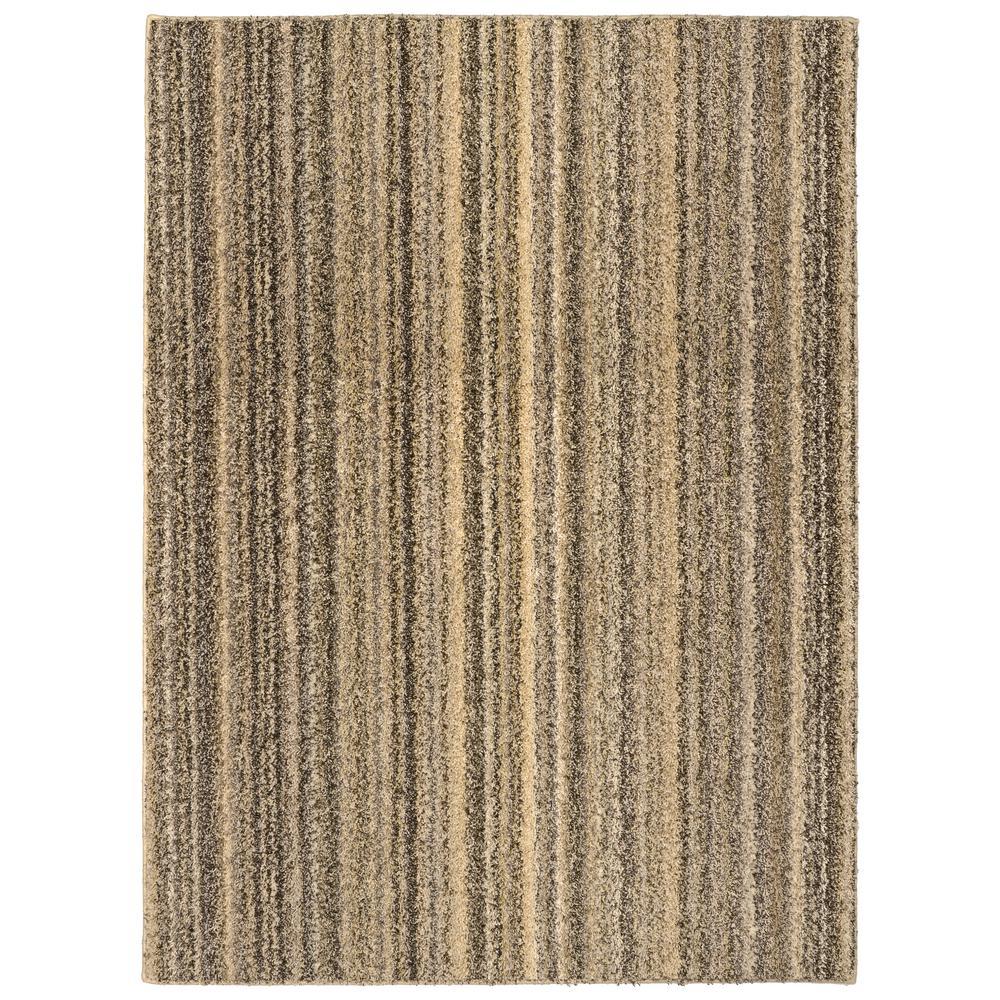 garland rug striped shag 5 ft x 7 ft area rug random earthtone rh homedepot com