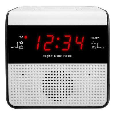 0.6 in. Red LED FM Alarm Clock Radio with USB charge port