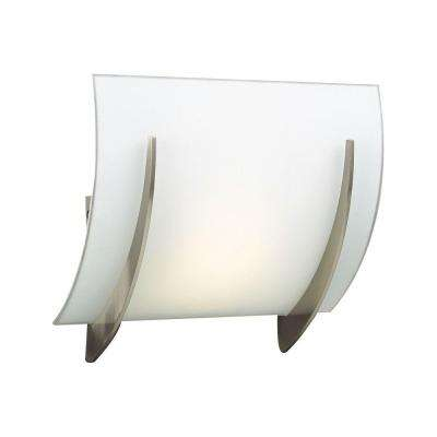 Contemporary Beauty 1-Light Satin Nickel Halogen Sconce