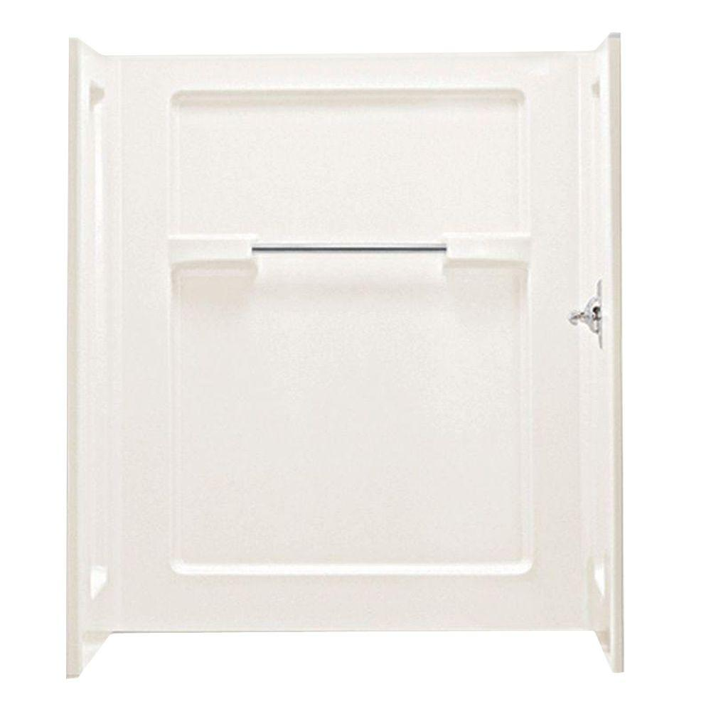 STERLING 35-1/4 in. x 48 in. x 55-1/4 in. 3-piece Direct-to-Stud Shower Wall Set in Biscuit