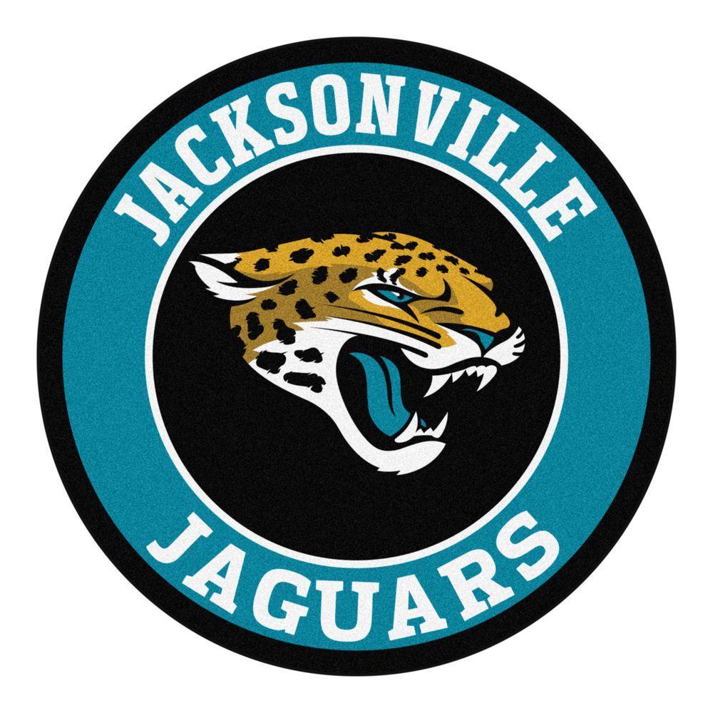 bc64b4c7 FANMATS NFL Jacksonville Jaguars Turquoise 2 ft. x 2 ft. Round Area Rug