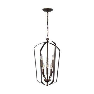 Romee 6-Light Heirloom Bronze Hall-Foyer Pendant