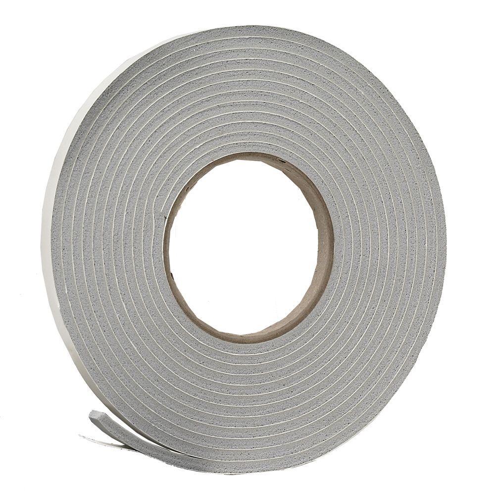 Frost King E/O 3/8 in. x 3/16 in. 17 ft. Grey Vinyl Foam Weather-Seal Self-Stick Tape