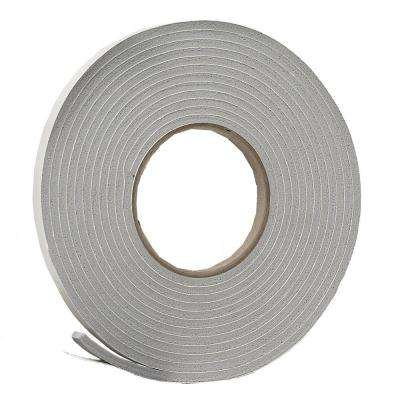E/O 3/8 in. x 3/16 in. 17 ft. Grey Vinyl Foam Weather-Seal Self-Stick Tape