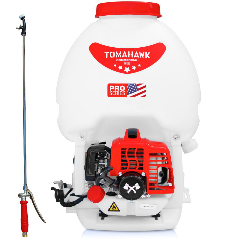 Tomahawk Power 5 Gal Gas Power Backpack Sprayer For Pesticide Disinfectant And Fertilizer Tps25 The Home Depot