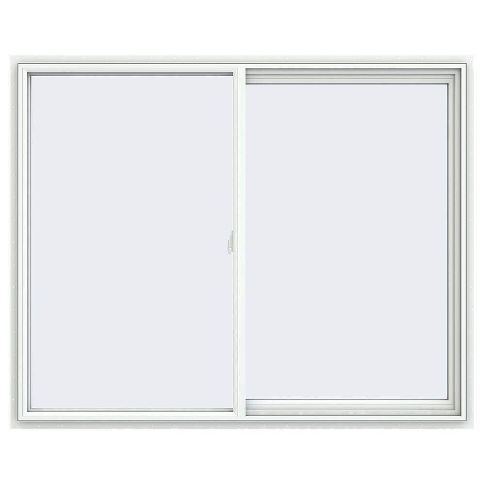 59.5 in. x 47.5 in. V-2500 Series Right-Hand Sliding Vinyl Window